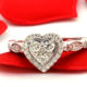 The Anamarie Collection - Plus size, Heart Shaped Diamond engagement ring by My Trio Rings