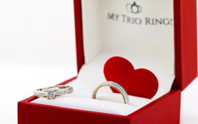 Matching Engagement ring and wedding band by my trio rings