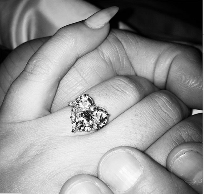Lady Gaga's heart shaped diamond engagement ring