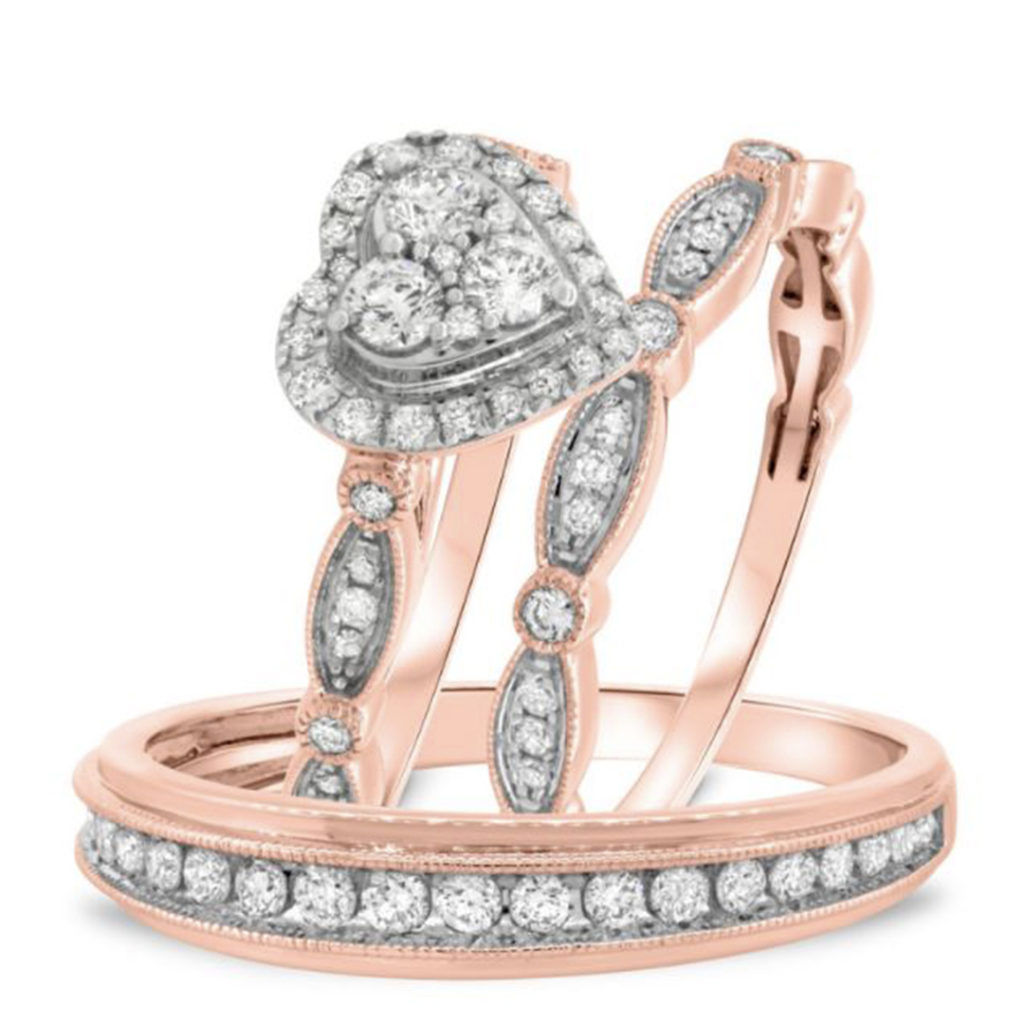 Anamarie Collection trio ring set by my trio rings BT417R