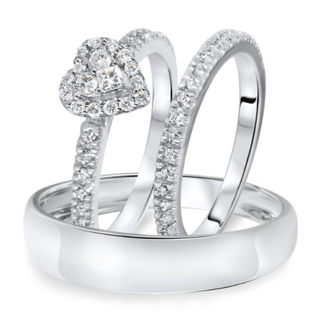 Daphney Collection trio ring set by my trio rings BT317W