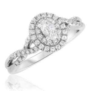 Isa collection engagement ring by my trio rings