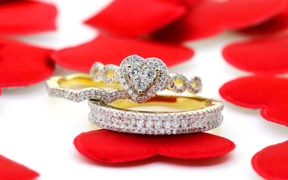 Plus size, Heart Shaped Diamond engagement ring by My Trio Rings
