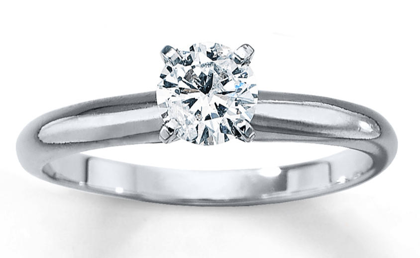 Kays half carat diamond engagement ring