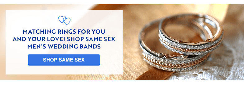Matching Rings for you and your love! Shop same sex men's wedding bands with My Trio Rings!