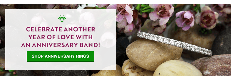 Celebrate another year of love with an anniversary band! Shop Anniversary Bands