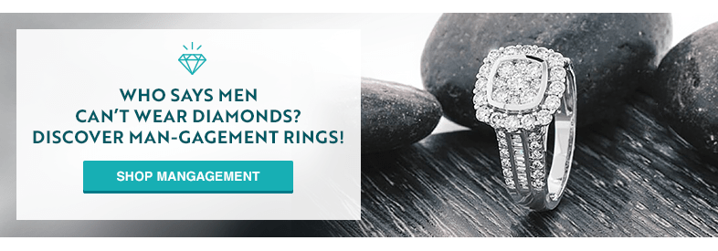 Who says men can't wear diamonds? Discover Man-Engagement Rings!