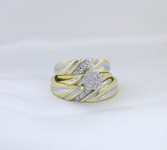 The CasCade Collection trio ring set by My Trio Rings