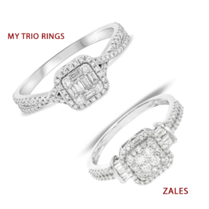 My Trio Rings Margot Collection Engagement Ring