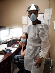 Phillip and Tamara Working at Binson's Medical Equipment and Supplies