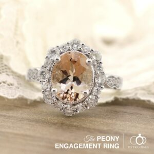 The Peony Morganite Engagement Ring by My Trio Rings
