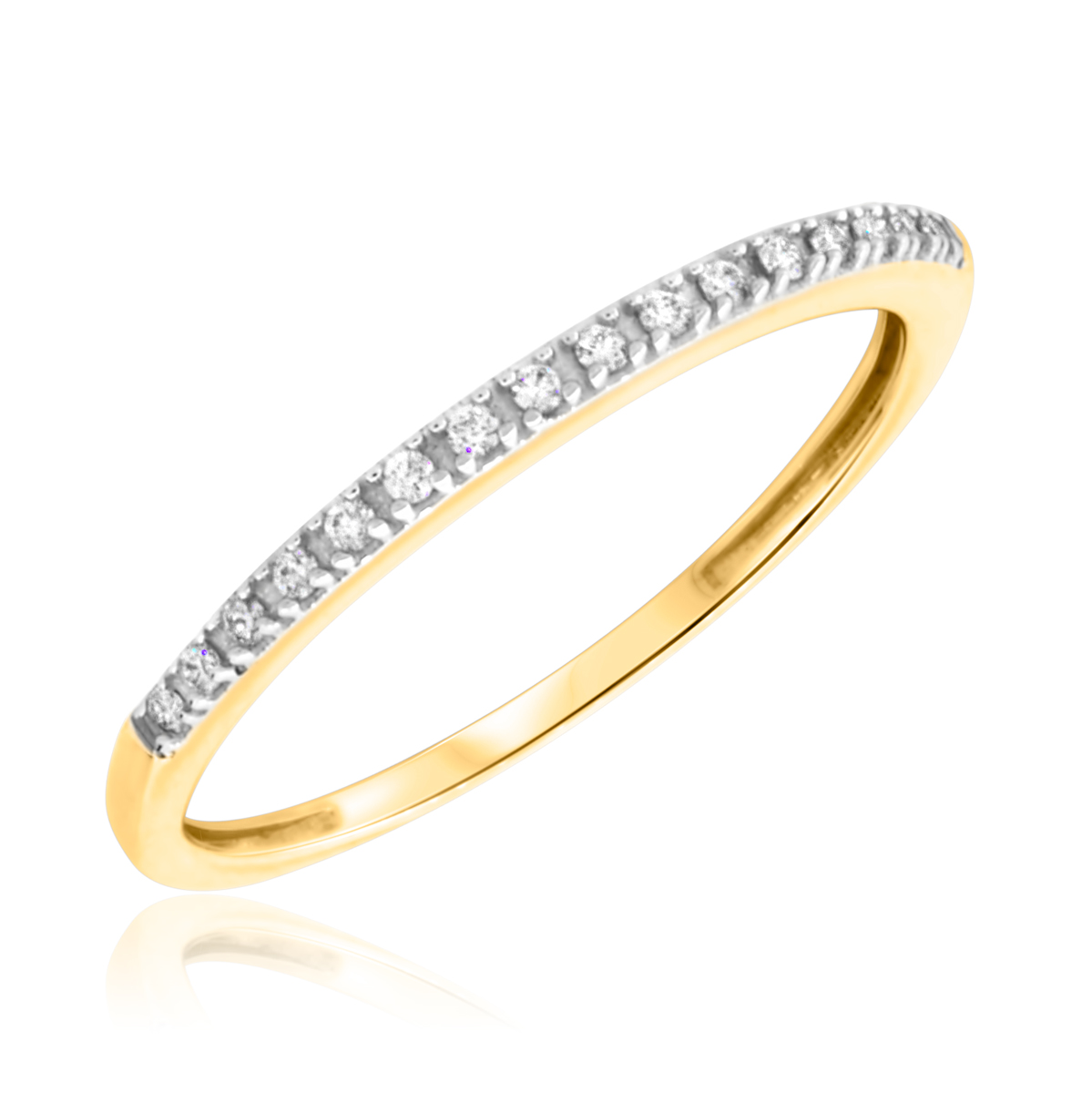 Thin Diamond Wedding Band Ladies
