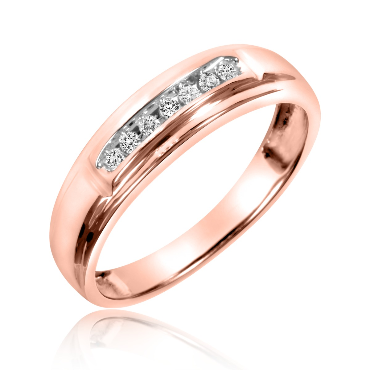 1 20 Carat T W Diamond La s Wedding Band 10K Rose Gold