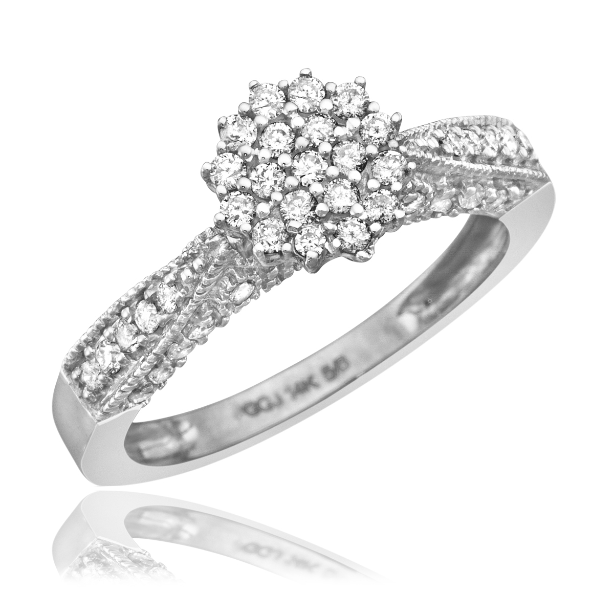 Women39;s Engagement Ring 14K White Gold  My Trio Rings  BT103W14KE