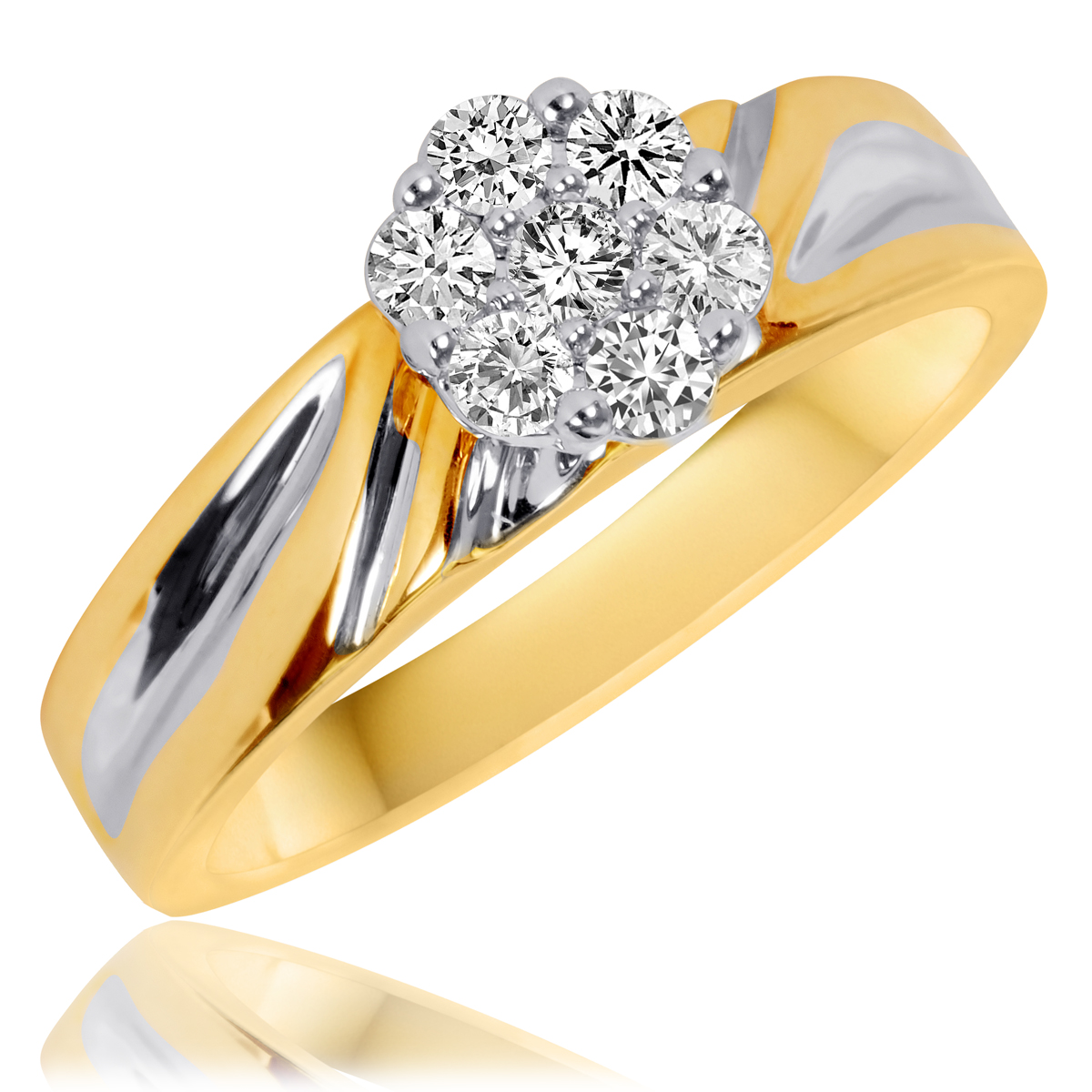 1/3 CT. T.W. Diamond Ladies' Engagement Ring 10K Yellow ...