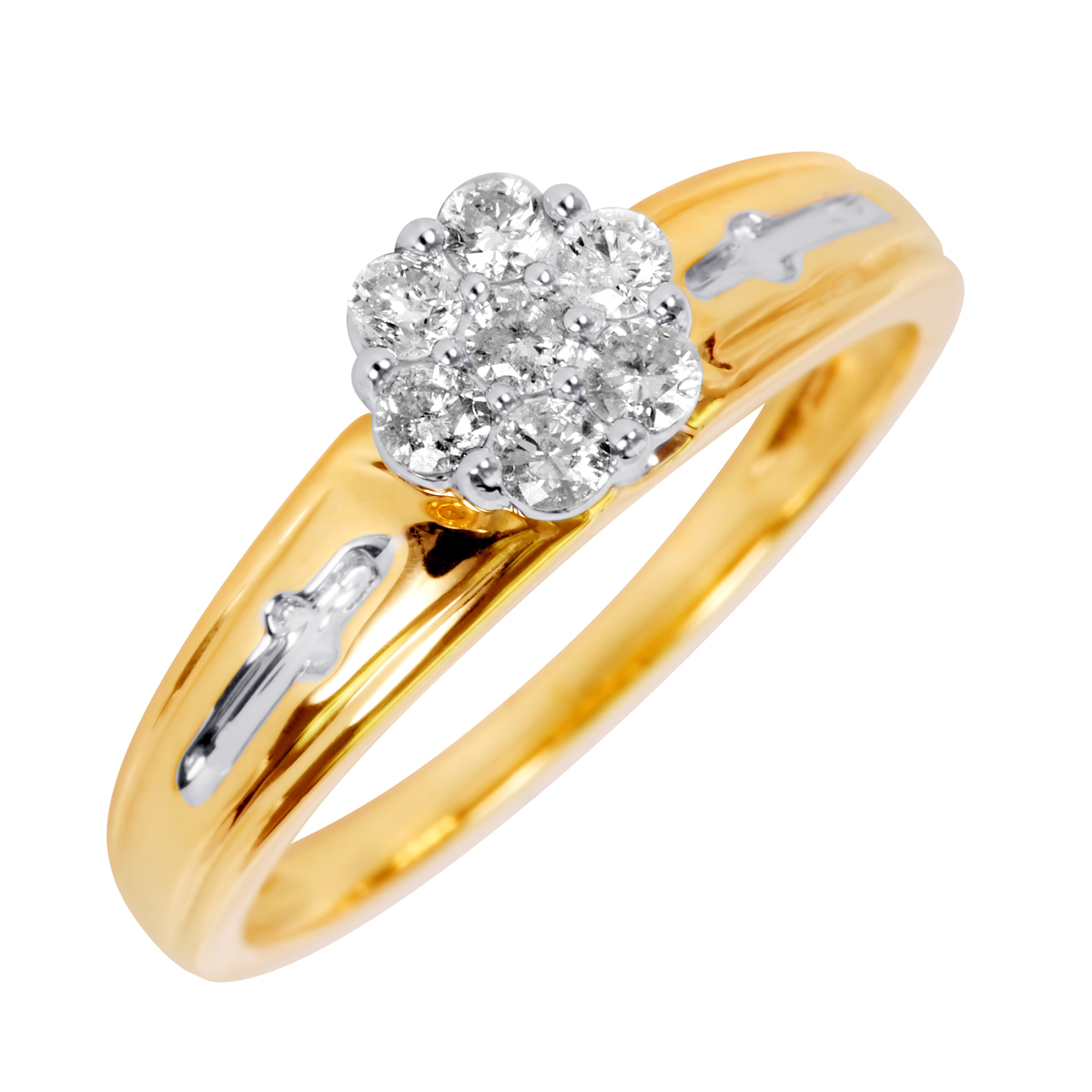 1/3 Carat T.W. Diamond Ladies' Engagement Ring 14K Yellow ...