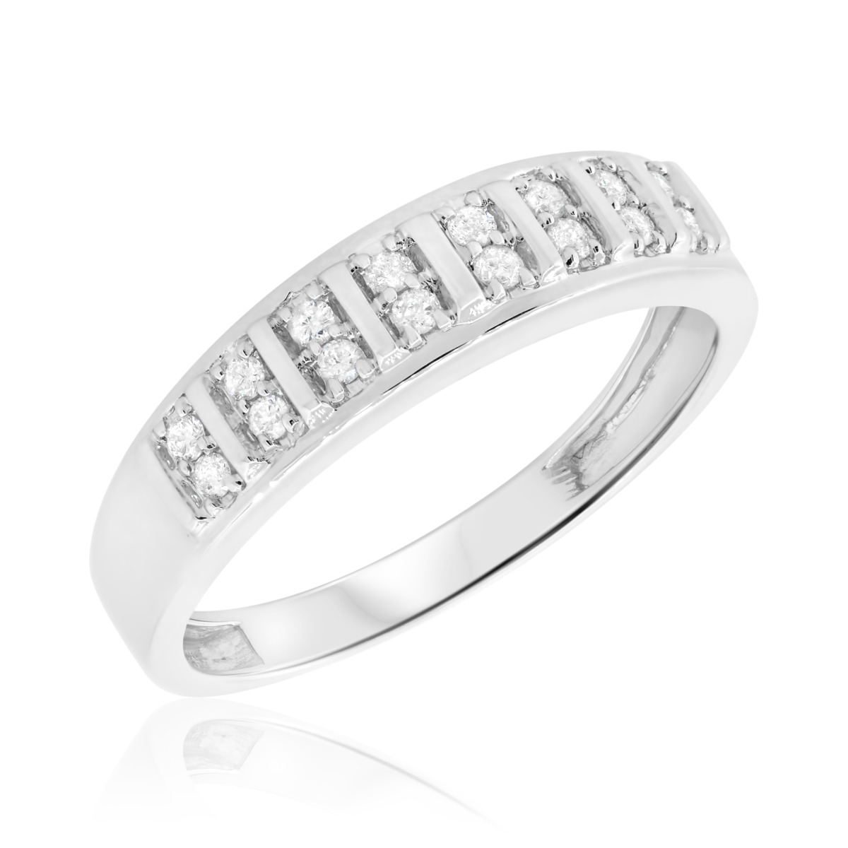 mens wedding band - Mens Wedding Ring With Diamonds