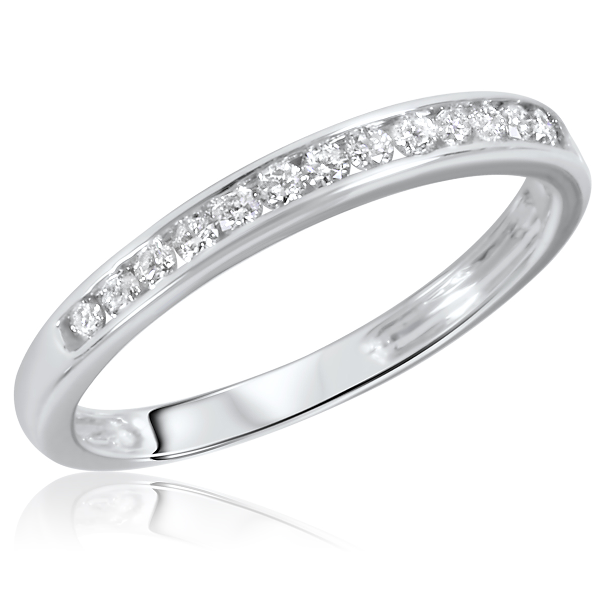 Wedding Rings White Gold Carat T W Diamond Women S Wedding Ring 14K White Gold
