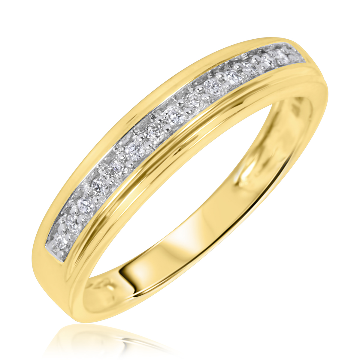 1 5 carat tw diamond men39s wedding ring 14k yellow gold for Mens wedding rings yellow gold