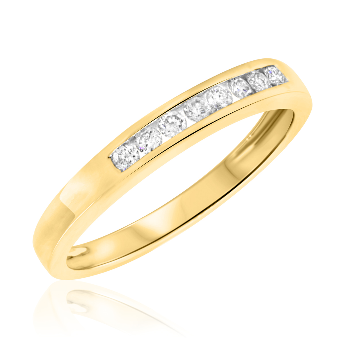 women 39 s wedding band 10k yellow gold my trio rings bt163y10kl