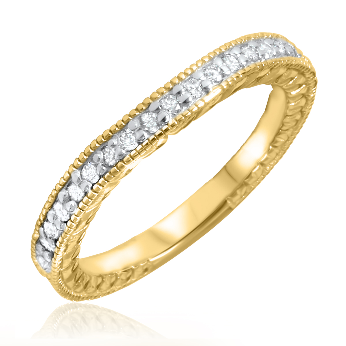 7 8 Carat T W Round Cut Diamond Mens Wedding Band 14k