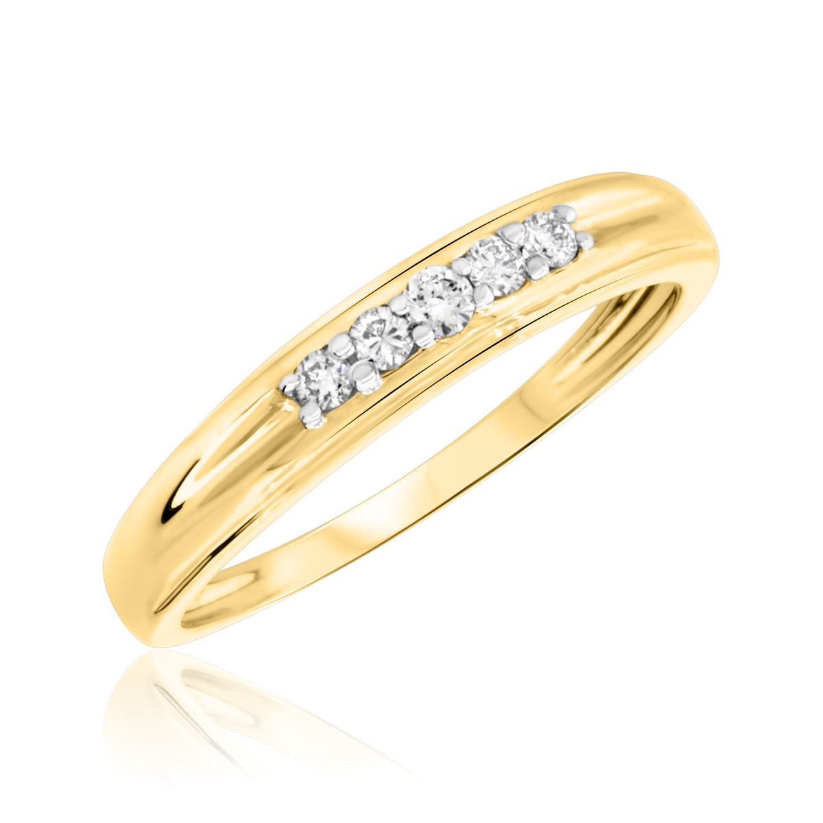 womens gold wedding bands 18 ct tw diamond womens wedding band