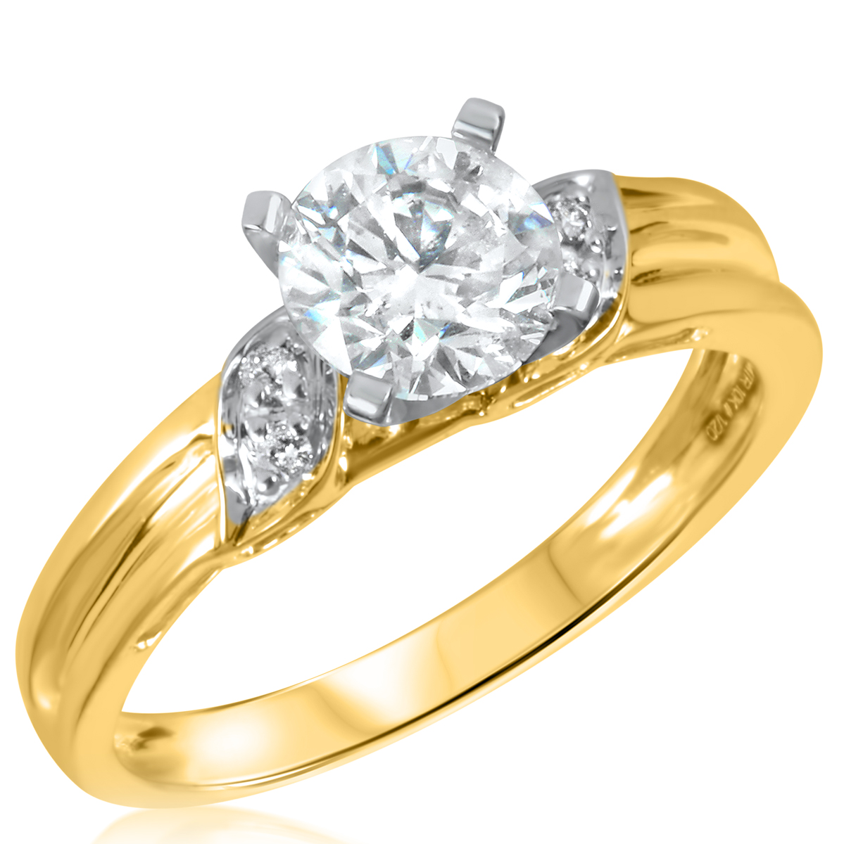 1 ct tw diamond ladies engagement ring 10k yellow gold for 1 ct wedding ring