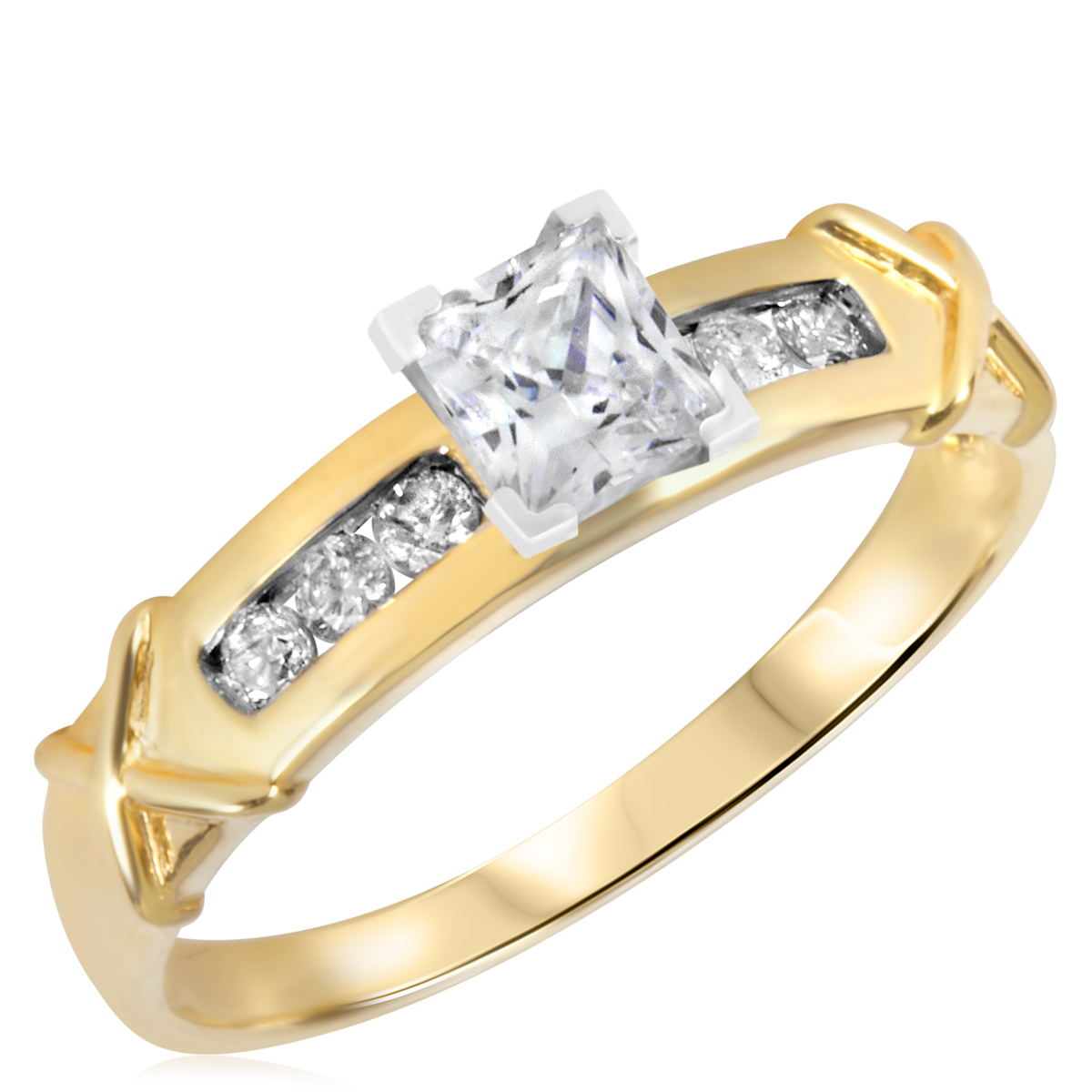 2/3 CT. T.W. Diamond Ladies Engagement Ring 14K Yellow ...