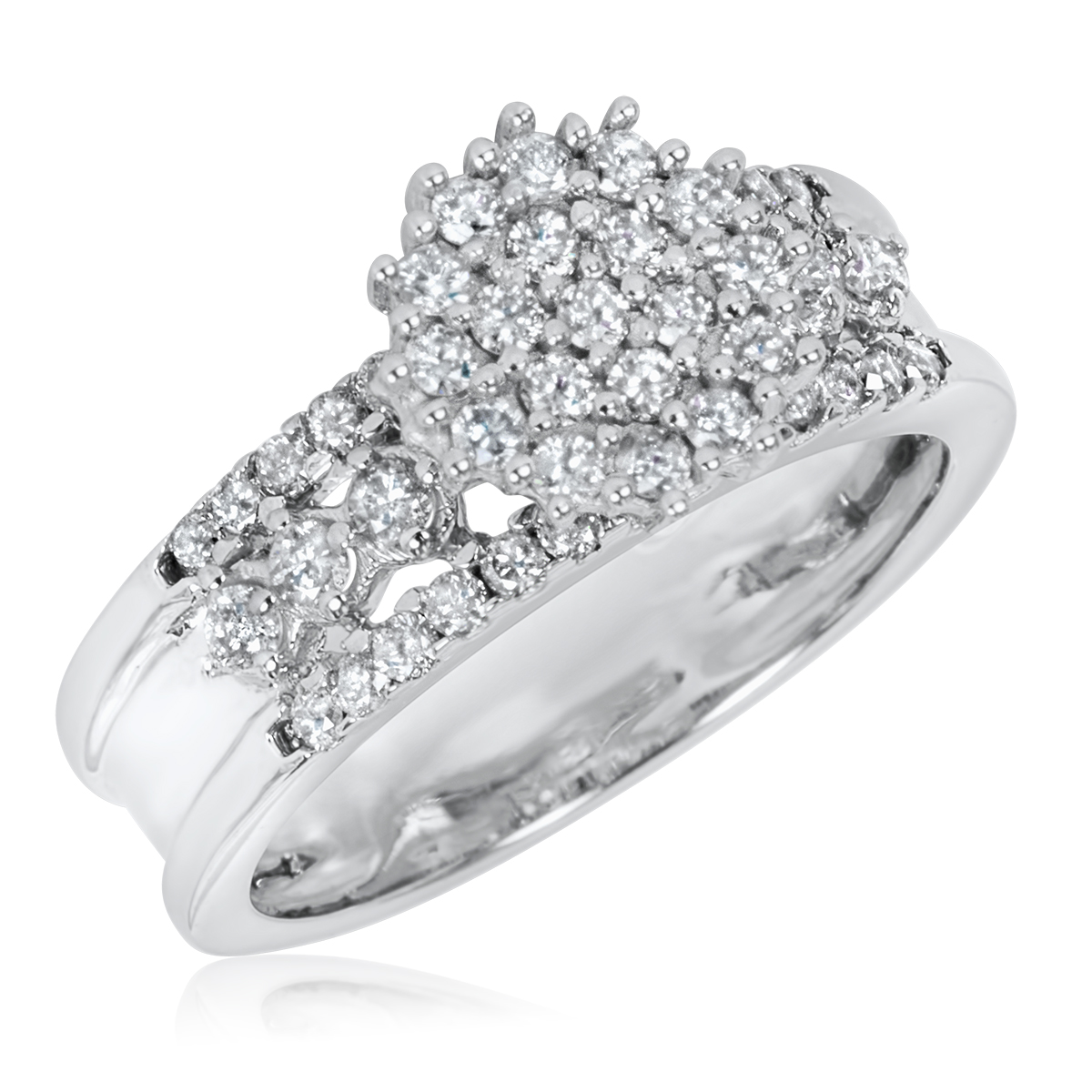 Women39;s Engagement Ring 14K White Gold  My Trio Rings  BT106W14KE