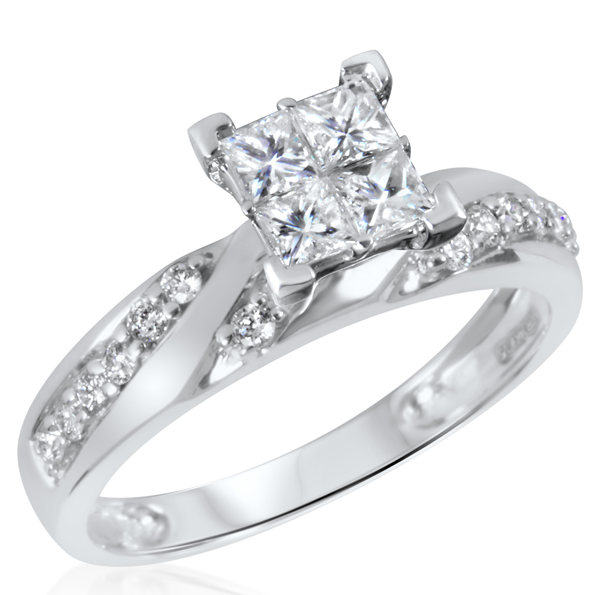 3 4 ct t w engagement ring 10k white gold