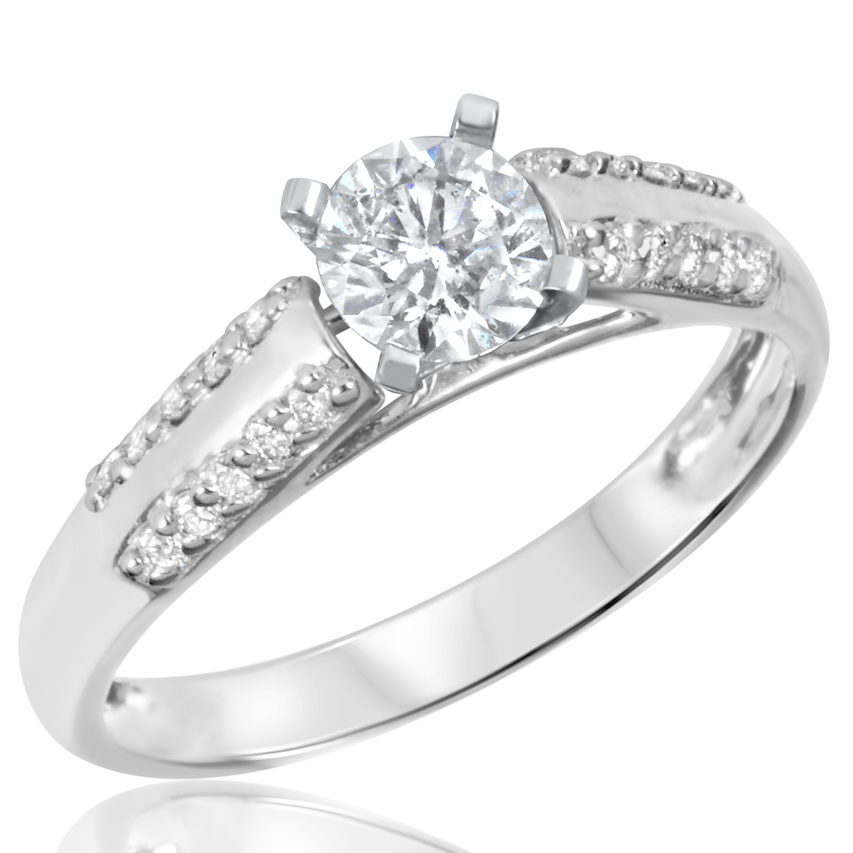 3 4 ct t w engagement ring 14k white gold