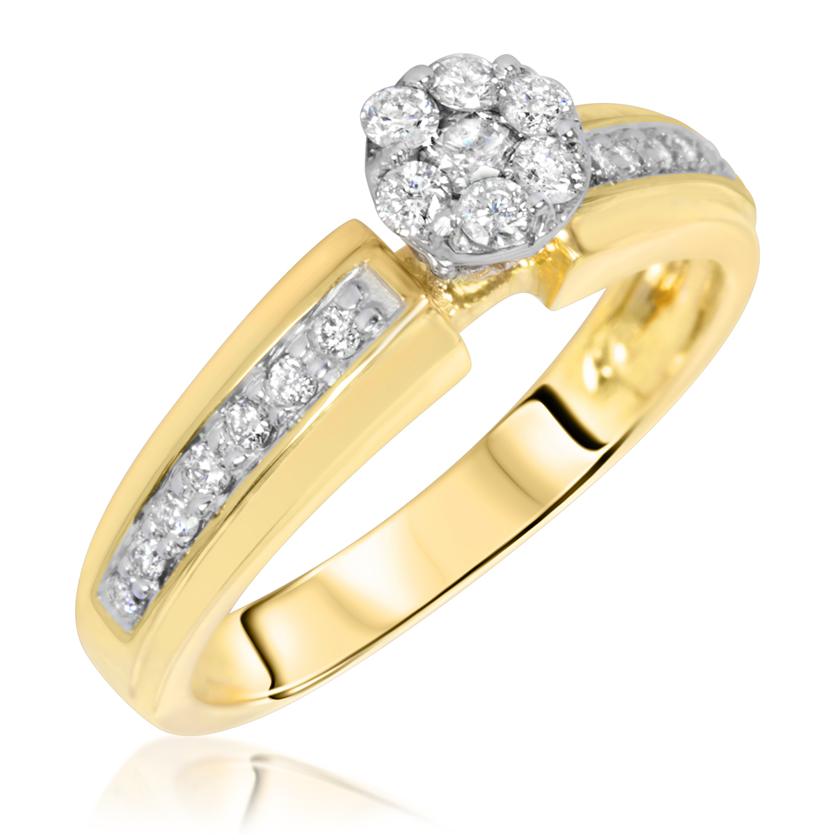 3 8 Carat T W Diamond Women s Engagement Ring 14K Yellow Gold