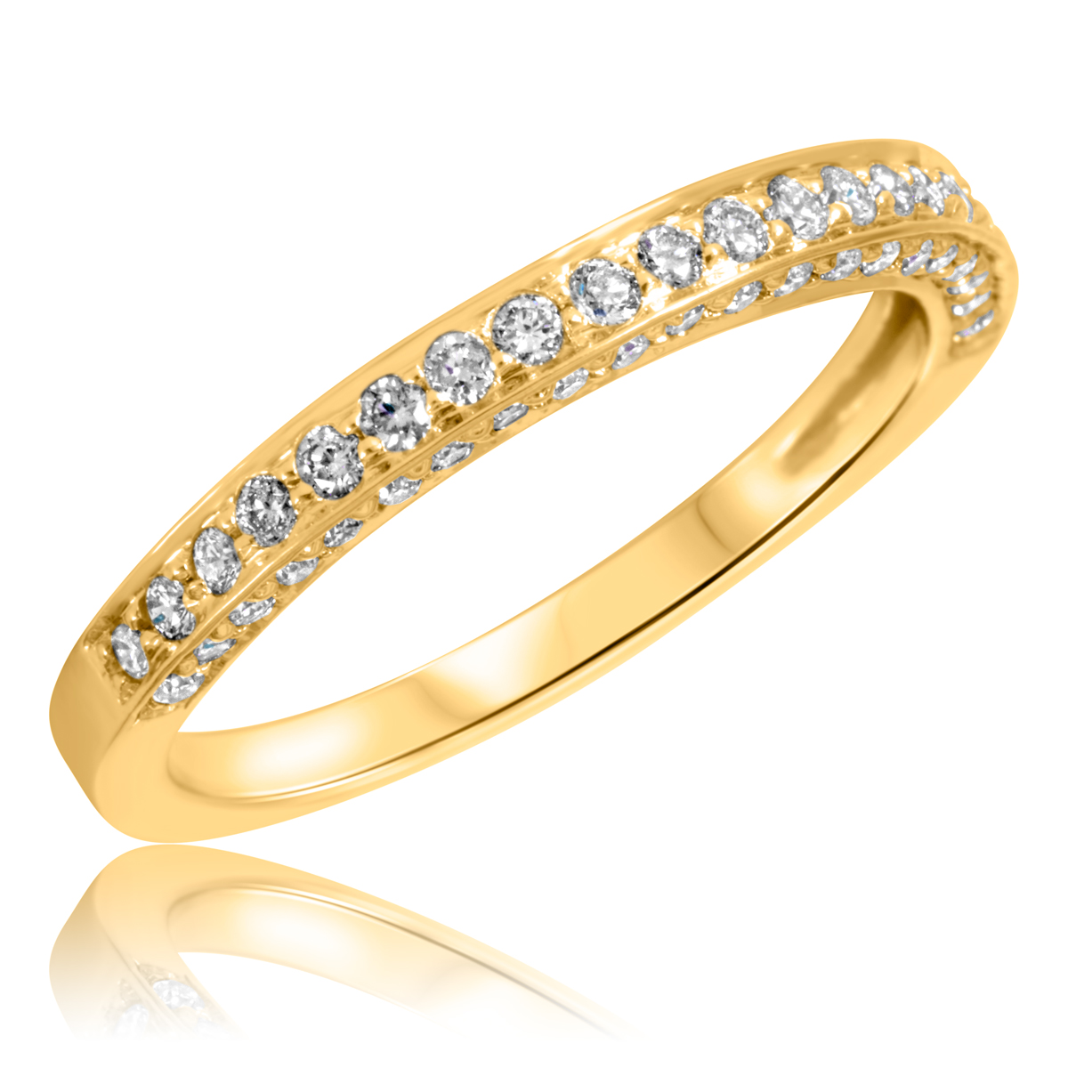 3 8 carat t w cut wedding band 14k