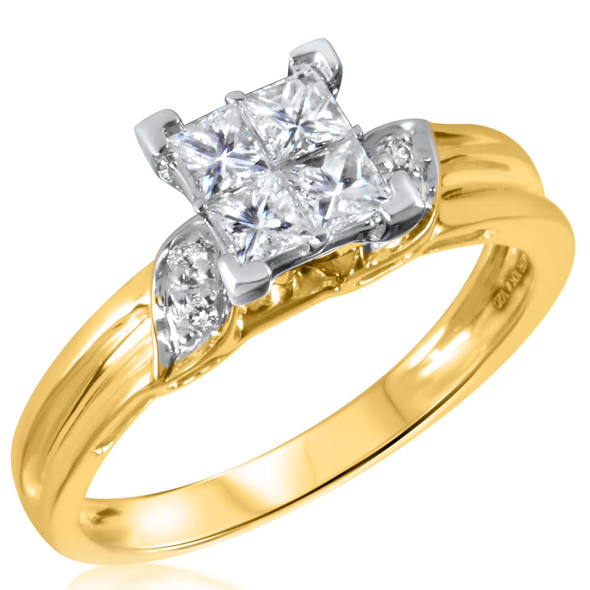 5 8 ct t w engagement ring 10k yellow