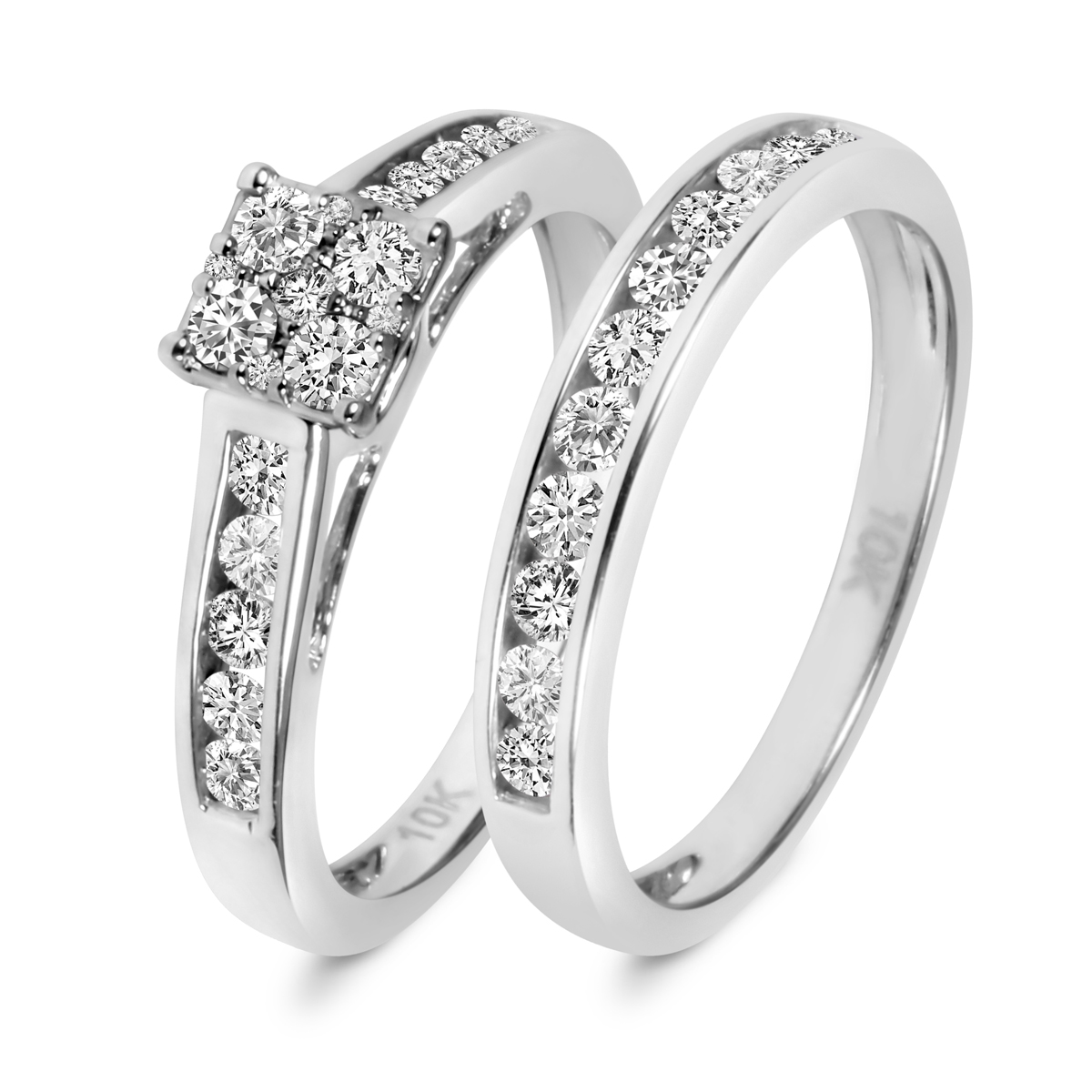 Style br532w10k for Ladies diamond wedding ring sets