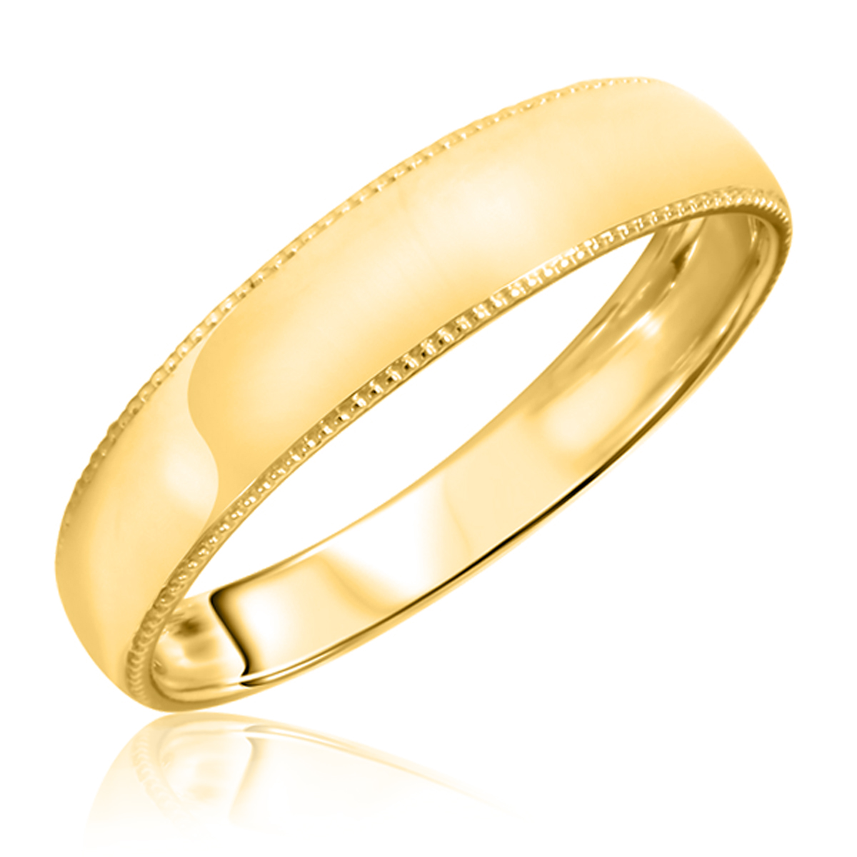 s wedding band 14k yellow gold my trio rings