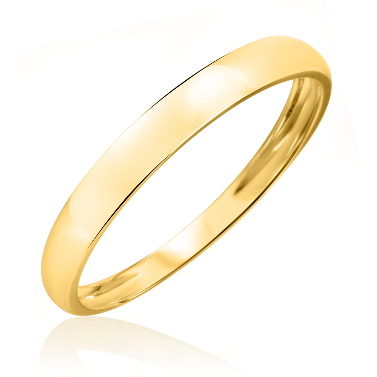 No DiamondsMens Wedding Band 14K Yellow Gold