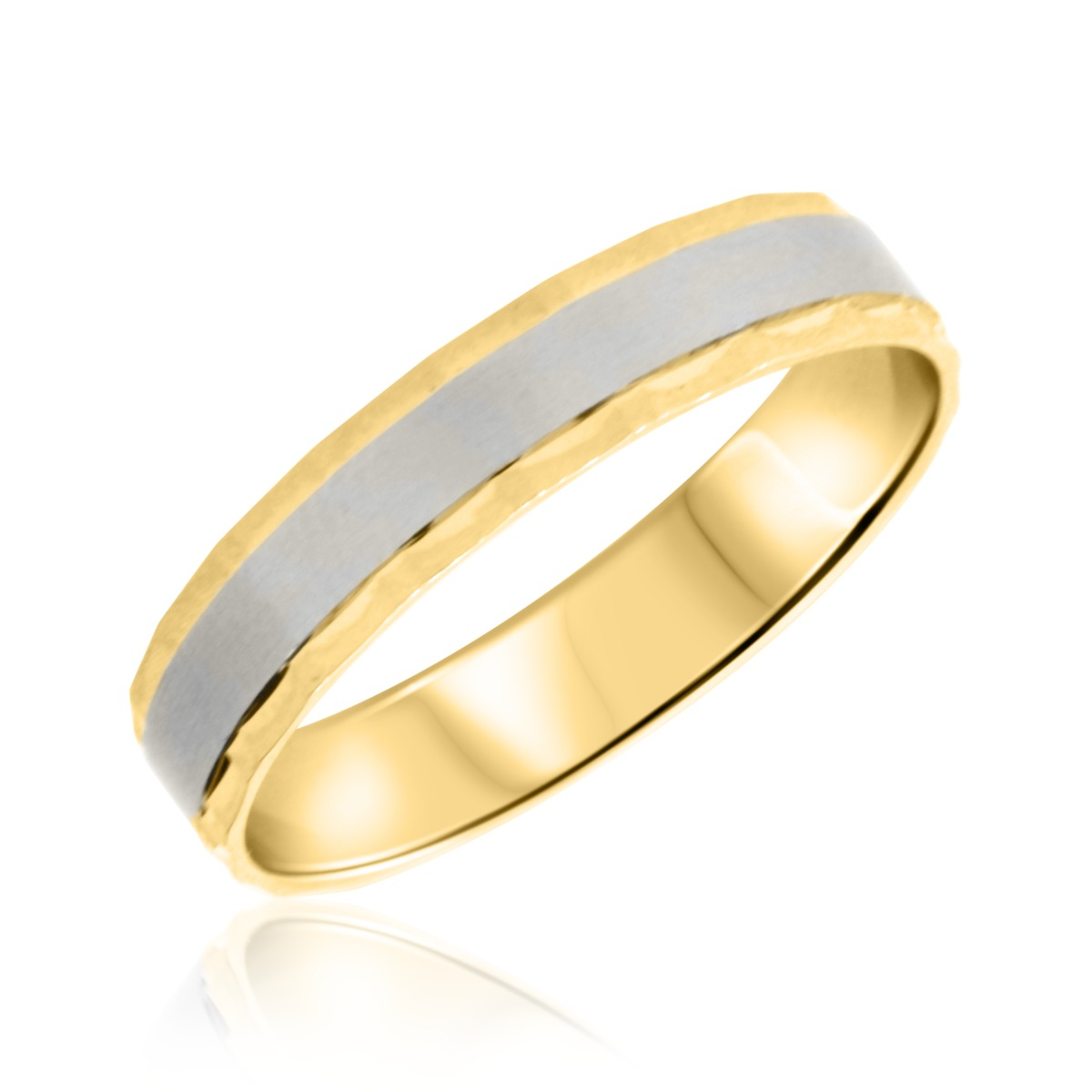 No DiamondsTraditional Mens Wedding Band 10K Yellow Gold My Trio Rings