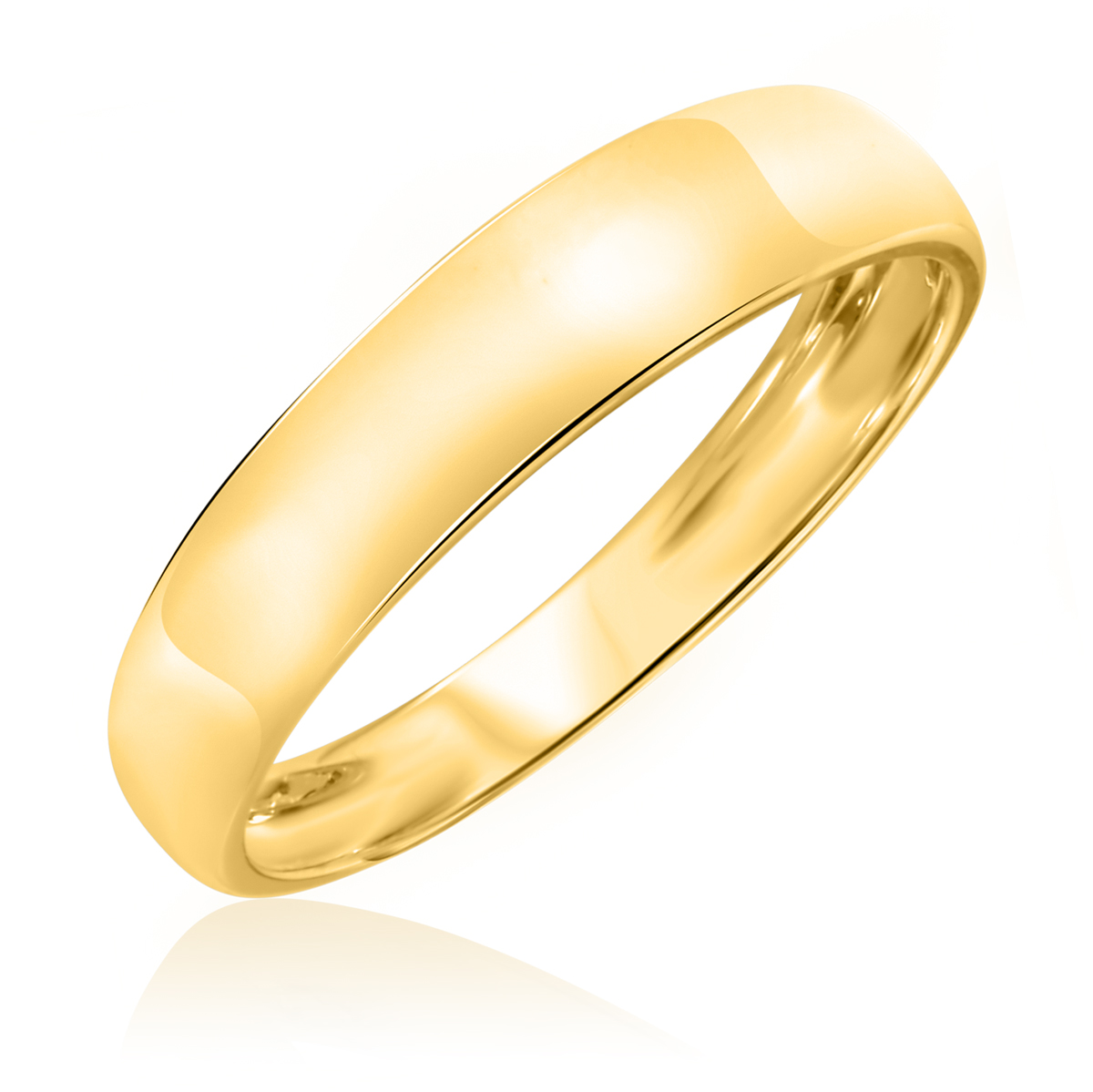 No DiamondsTraditional Mens Wedding Band 14K Yellow Gold