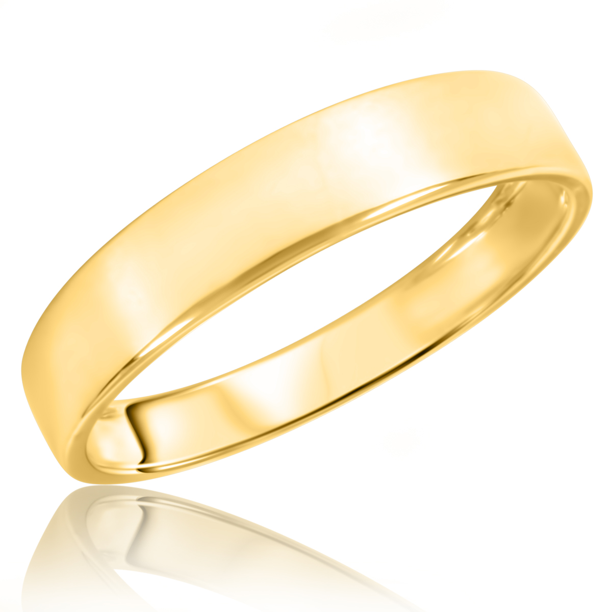 traditional mens wedding band 14k yellow gold my trio