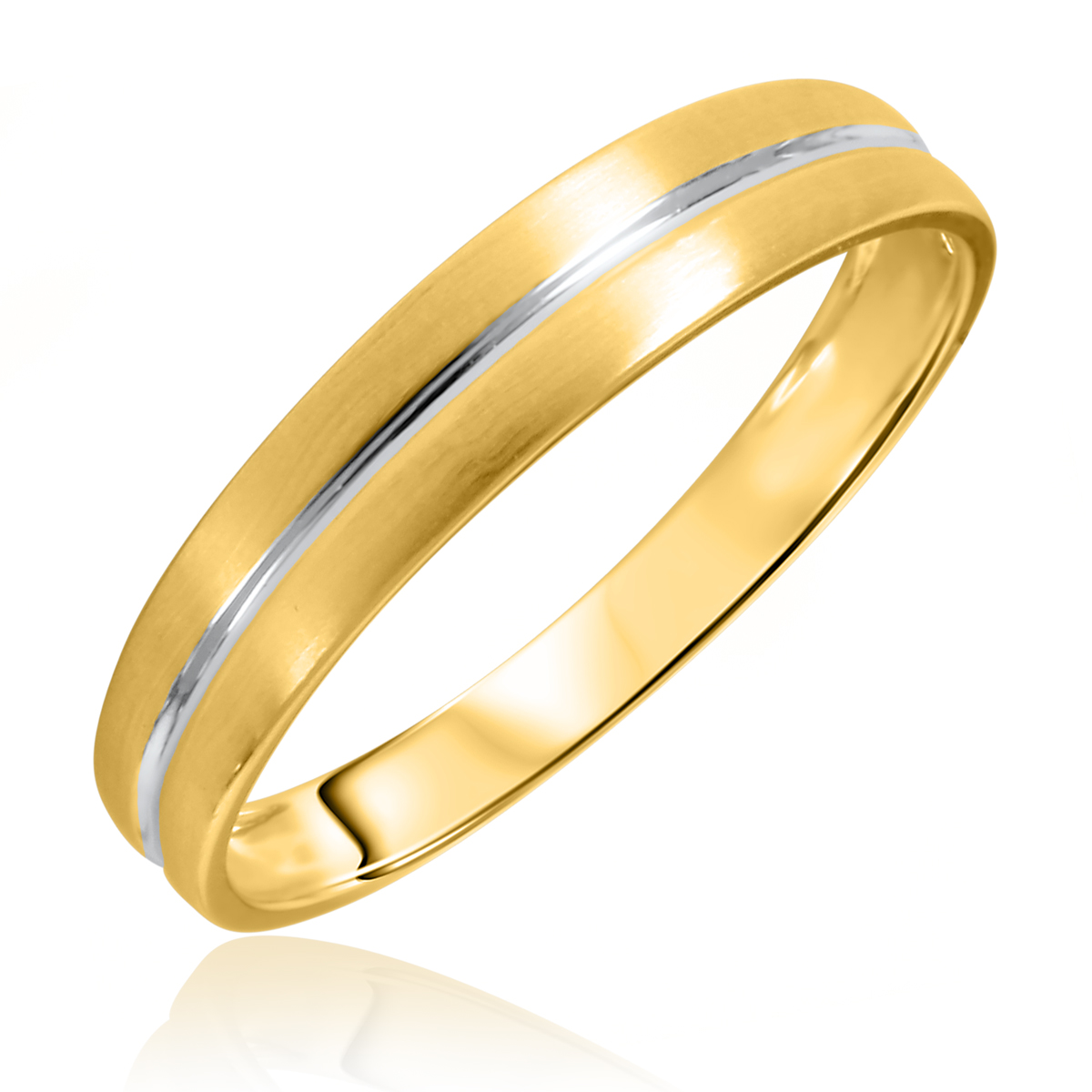 Color and size for Mens wedding rings yellow gold