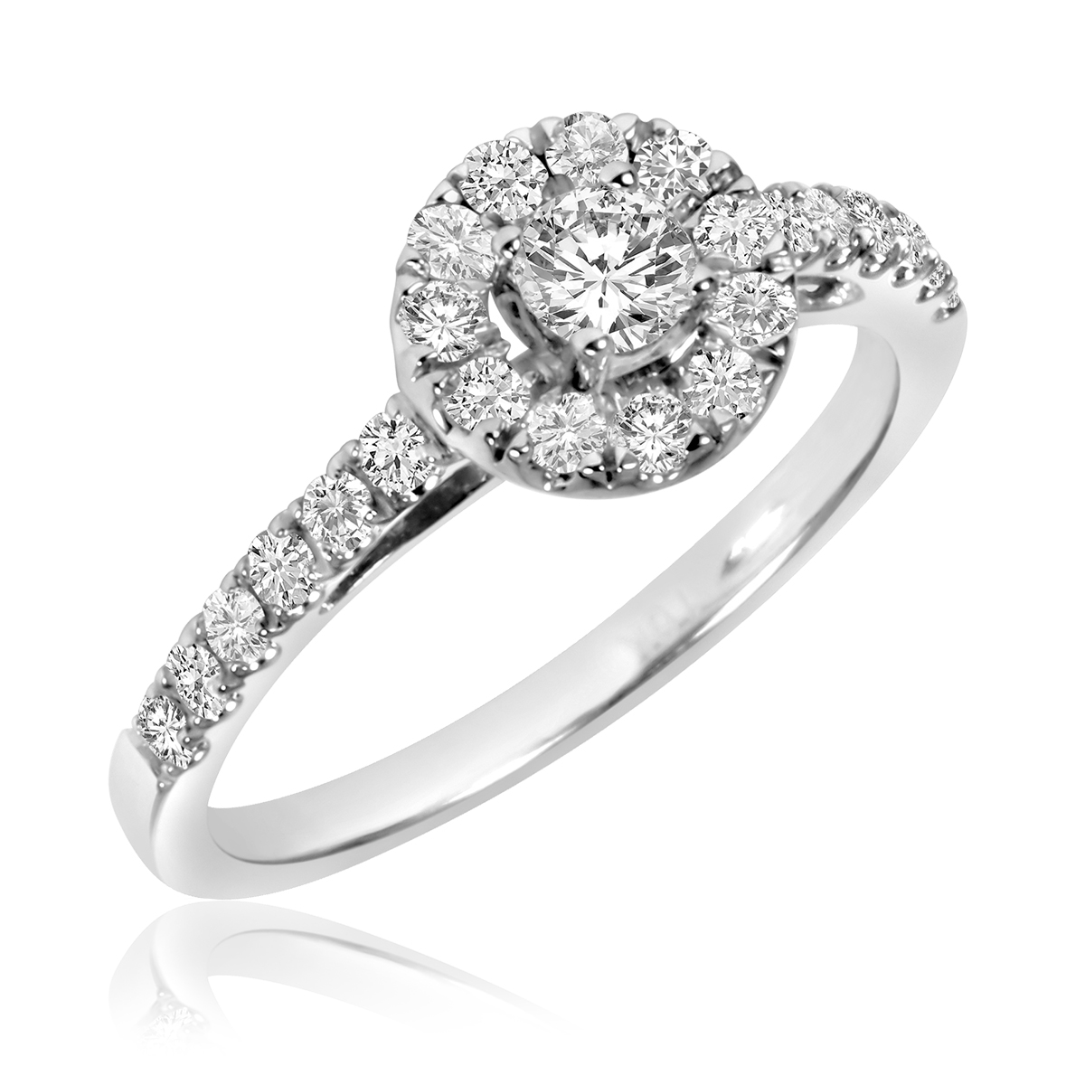 Hers Engagement Ring, Ladies Wedding Band, Men's Wedding Band Matching ...