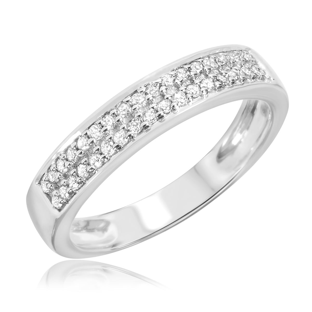 1 2 ct t w his and hers wedding rings 10k white