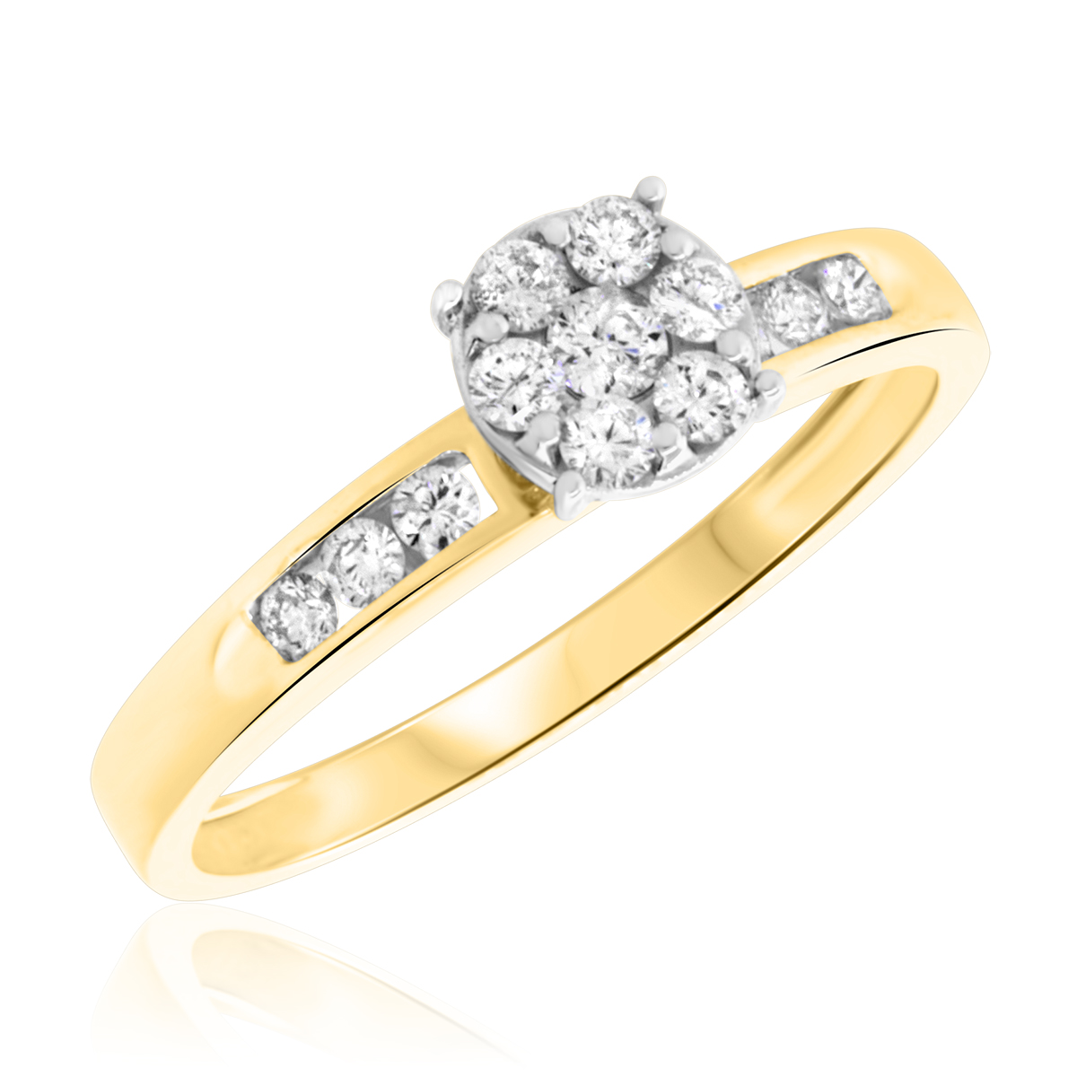 33 Carat Diamond Wedding Band In 14k Yellow Gold