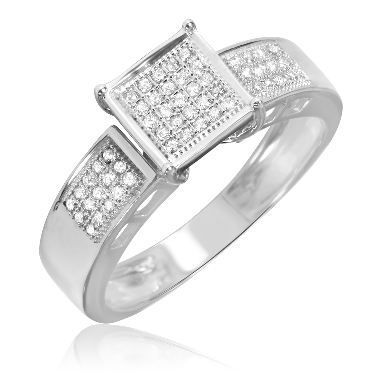 1 4 carat bridal wedding ring set 10k white gold