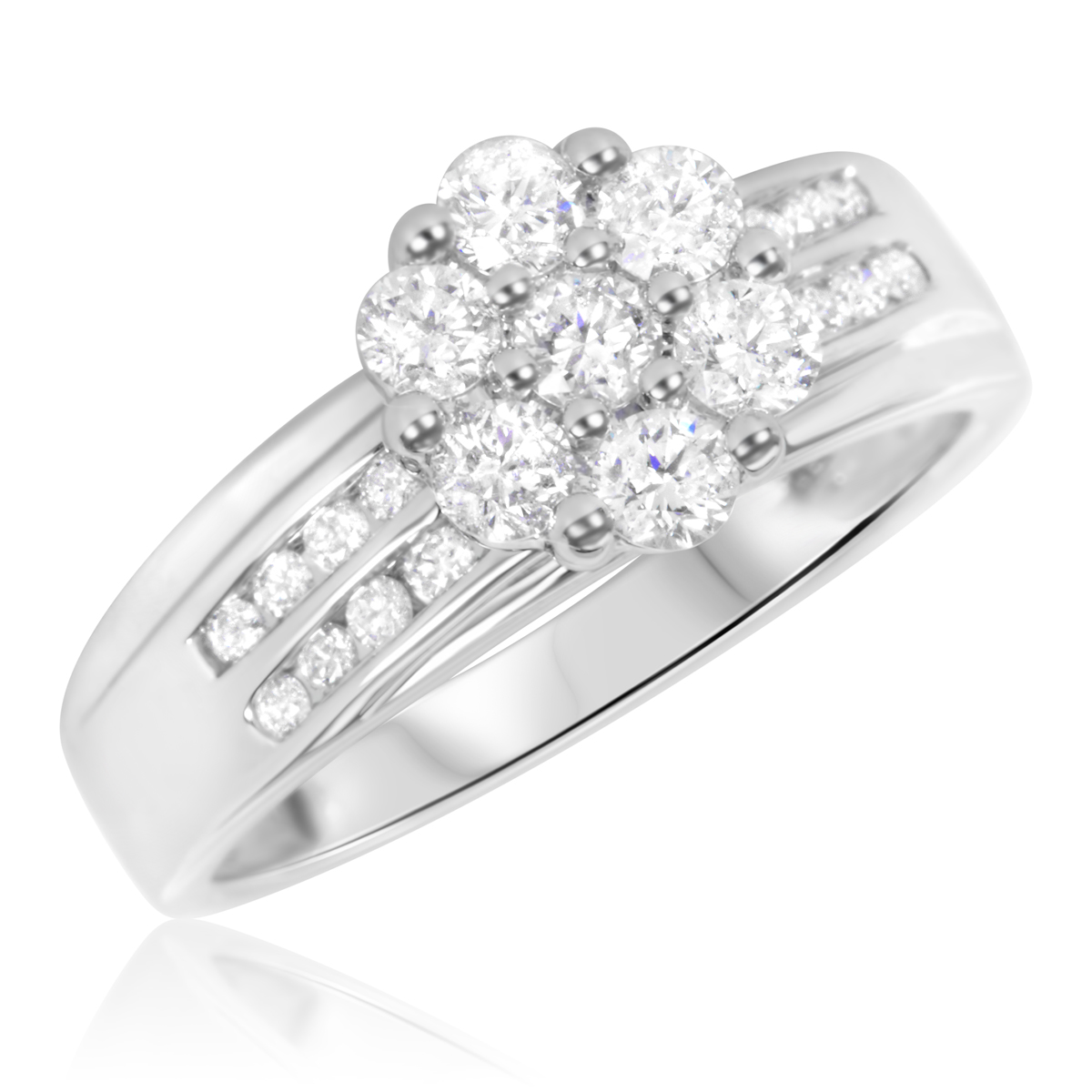 This matching 1 58 Carat T.W. Diamond Trio Matching Wedding Ring Set ...