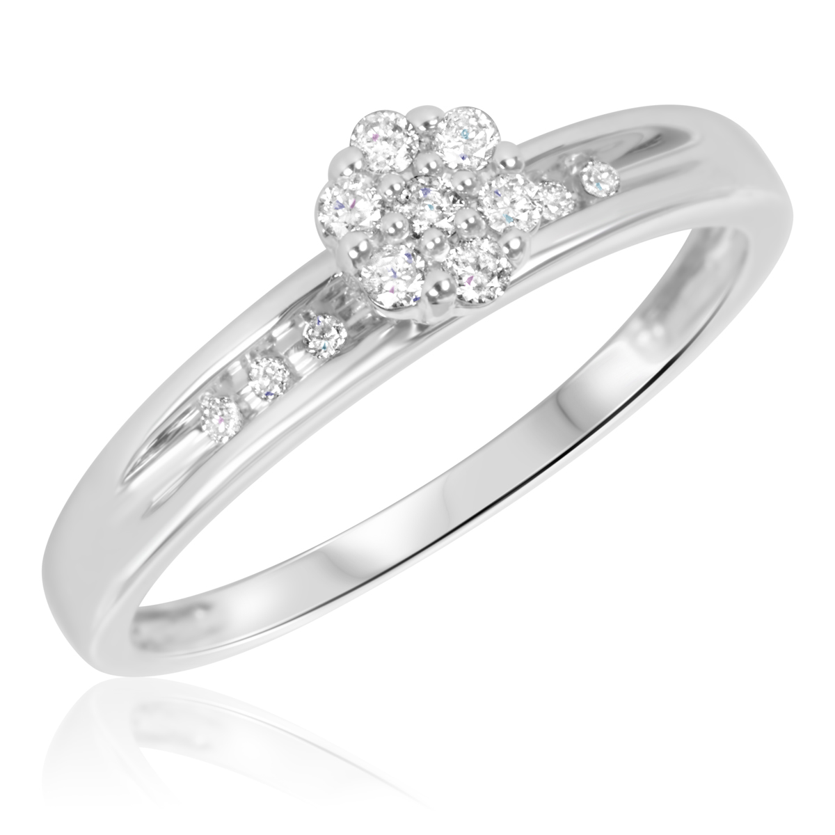 1/5 Carat T.W. Diamond Women's Bridal Wedding Ring Set 10K ...