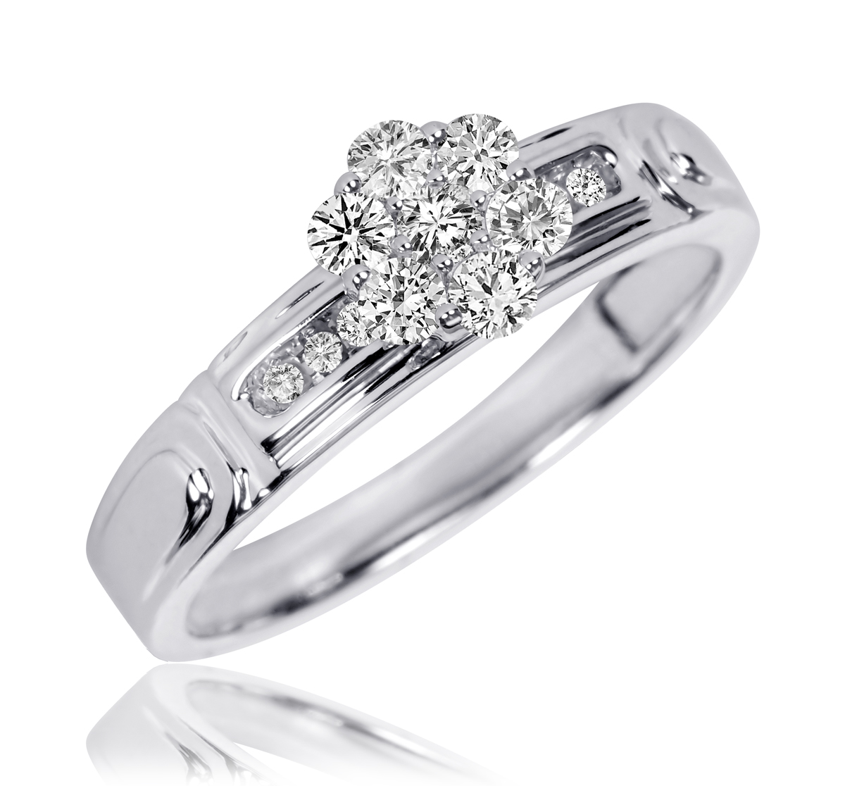 3 8 ct tw diamond women39s bridal wedding ring set 10k for Ladies diamond wedding ring sets