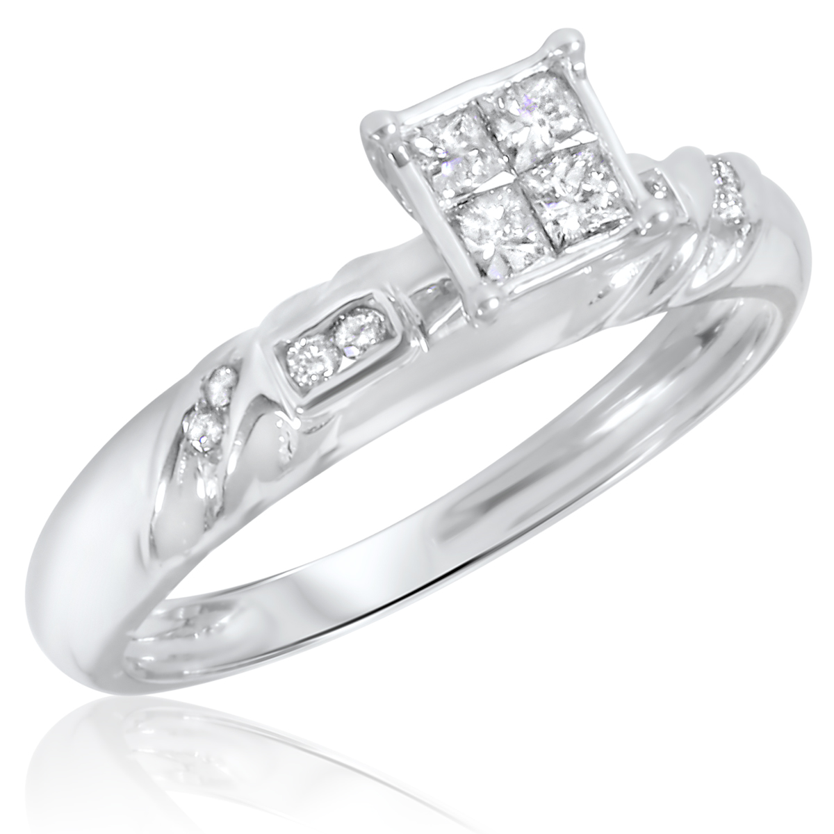 Wedding Rings White Gold Ring And Many More Items From India White Gold Ring Diamond Rings