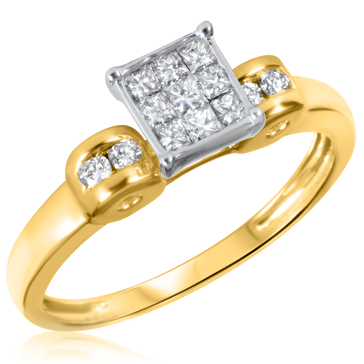 Brilliant Yellow Diamond Wedding Ring Sets 18 On Minimalist Design Women